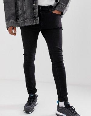 Черные джинсы скинни Cheap Monday