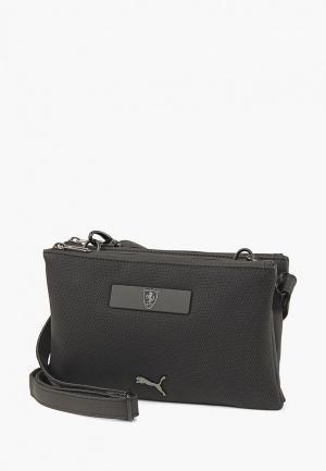 Сумка PUMA Ferrari LS Mini Handbag. Цвет: черный