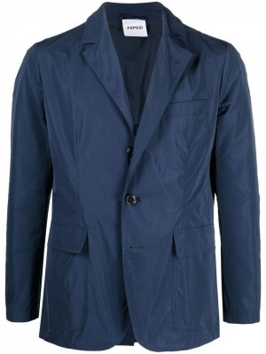 Однобортный пиджак Aspesi. Цвет: синий