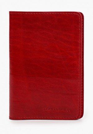 Обложка для паспорта Alexander Tsiselsky Unica. Цвет: красный