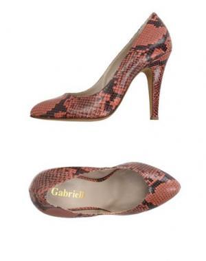 Туфли GABRIELLI. Цвет: ржаво-коричневый