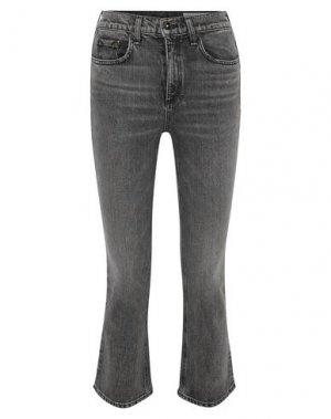 Джинсовые брюки-капри RAG & BONE. Цвет: черный