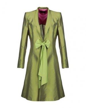 Легкое пальто BETTA CONTEMPORARY COUTURE. Цвет: кислотно-зеленый