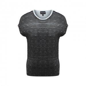 Пуловер из вискозы Giorgio Armani. Цвет: чёрный
