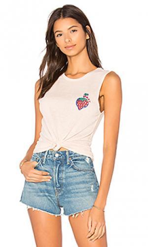Майка strawberry Obey. Цвет: персиковый