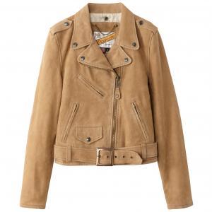 Куртка кожаная SCHOTT. Цвет: темно-бежевый