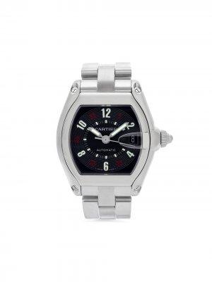 Наручные часы Roadster pre-owned 38 мм 2005-го года Cartier. Цвет: черный