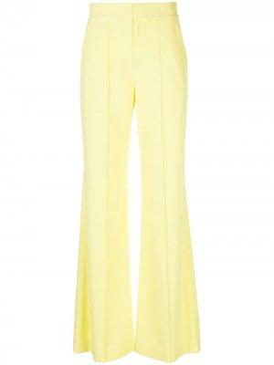 Расклешенные брюки с завышенной талией Alice+Olivia. Цвет: желтый