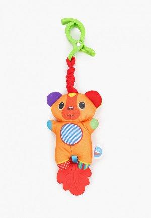 Погремушка Умка Мишка, 15 см. Цвет: оранжевый