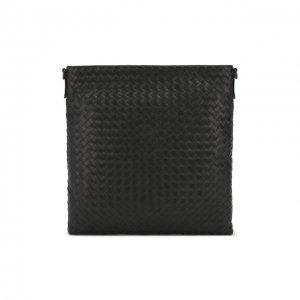 Кожаная сумка-планшет Bottega Veneta. Цвет: серый
