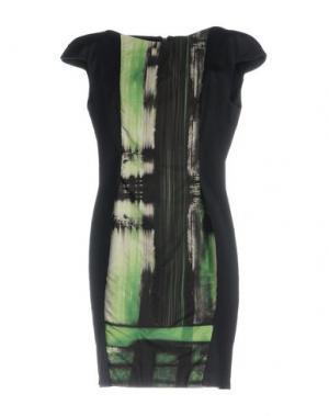 Короткое платье JULIAN KEEN. Цвет: темно-синий