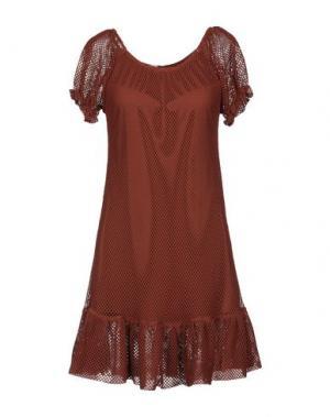 Короткое платье PIN UP STARS. Цвет: коричневый