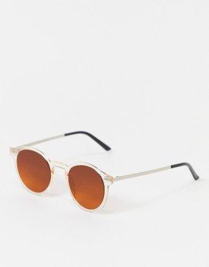 Оранжевые круглые солнцезащитные очки -Оранжевый цвет Spitfire
