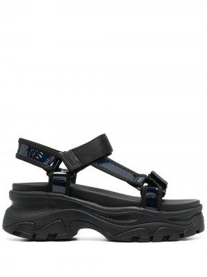 Массивные сандалии на липучках Tommy Jeans. Цвет: черный