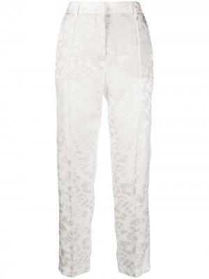 Жаккардовые брюки 8pm. Цвет: белый