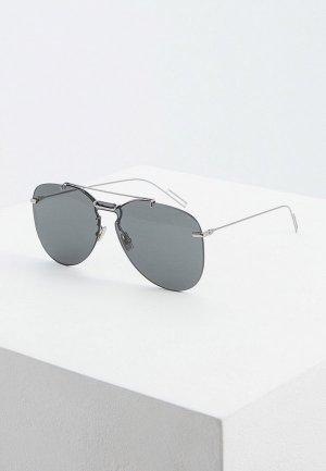 Очки солнцезащитные Christian Dior Homme DIOR0222S 6LB. Цвет: серебряный