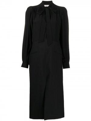 Платье миди с бантом Givenchy. Цвет: черный