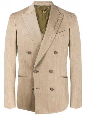 Двубортный пиджак Maurizio Miri. Цвет: нейтральные цвета