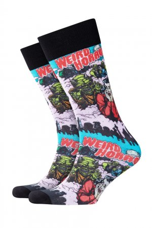 Хлопковые носки Horror Print Burlington. Цвет: черный