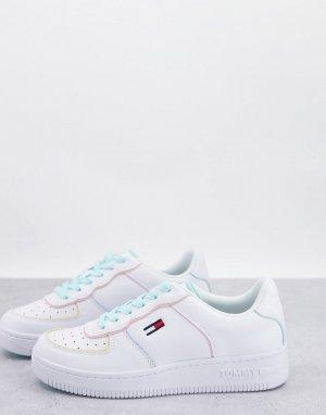 Белые баскетбольные кроссовки с пастельной окантовкой Pastel Collection-Белый Tommy Jeans