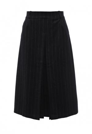 Юбка LOST INK PINSTRIPE BELTED WOOL MIDI