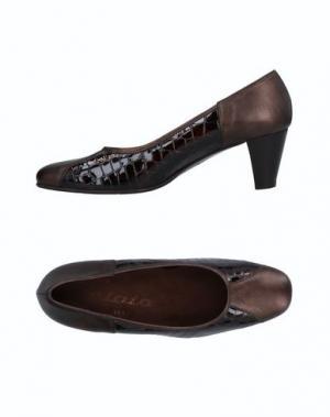 Туфли ELATA. Цвет: темно-коричневый