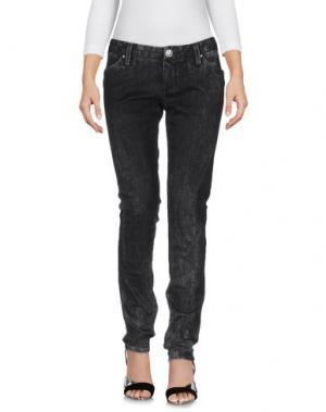 Джинсовые брюки LEROCK. Цвет: стальной серый
