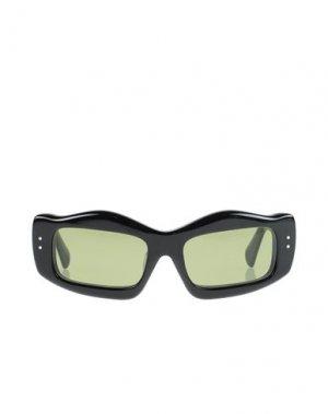 Солнечные очки BRAIN DEAD. Цвет: черный