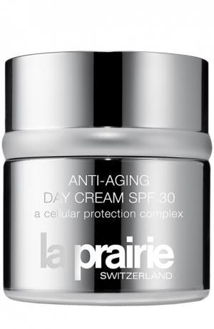 Антивозрастной дневной защитный крем Anti-Aging Day Cream SPF 30 La Prairie. Цвет: бесцветный