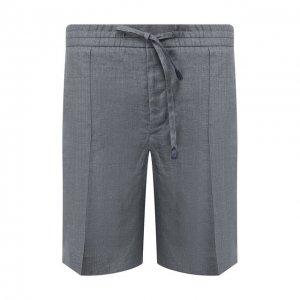 Льняные шорты Brioni. Цвет: серый