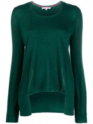 Пуловер асимметричного кроя Patrizia Pepe. Цвет: зеленый