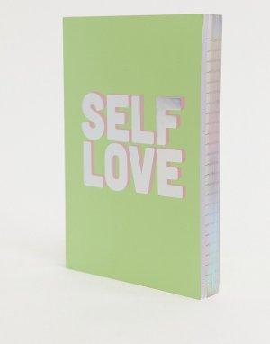 Зеленый блокнот с надписью Self Love Monki