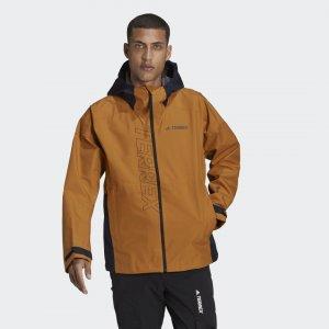 Куртка-дождевик Terrex GORE-TEX Paclite adidas. Цвет: none