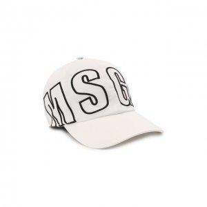Хлопковая бейсболка MSGM. Цвет: белый