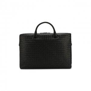 Кожаный портфель Bottega Veneta. Цвет: чёрный