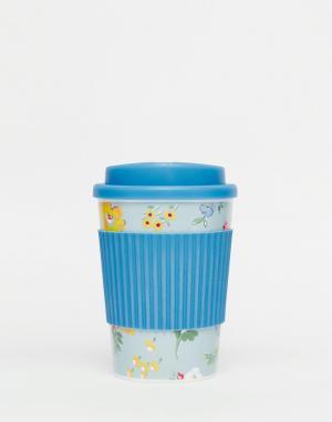 Дорожная чашка с узором Meadow Cath Kidston. Цвет: синий