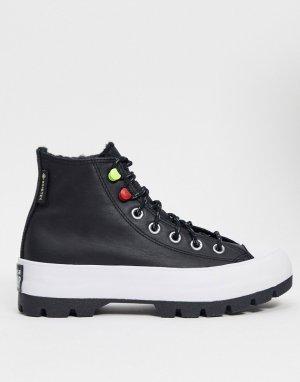 Черные кроссовки на рифленой платформе Chuck Tayor с технологией Goretex-Черный Converse