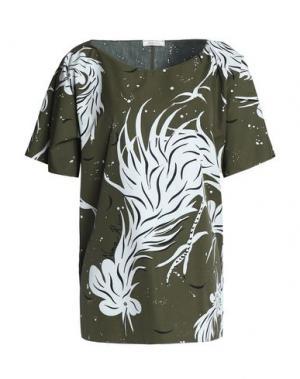 Блузка NINA RICCI. Цвет: зеленый-милитари