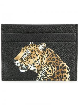 Leopard print cardholder Dolce & Gabbana. Цвет: черный