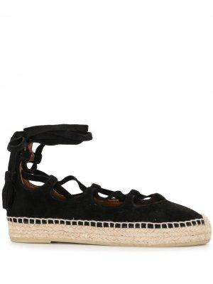 Эспадрильи Luna на шнуровке Altuzarra. Цвет: черный