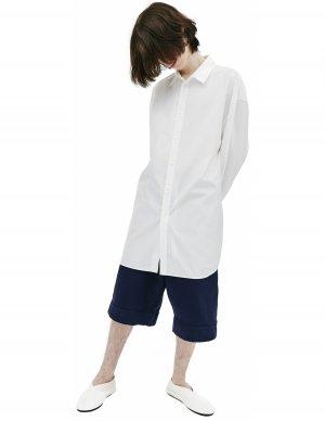 Оверсайз рубашка белого цвета Jil Sander