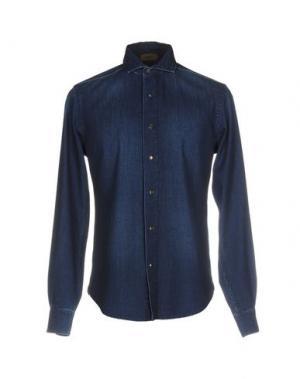 Джинсовая рубашка ALPHA STUDIO. Цвет: синий