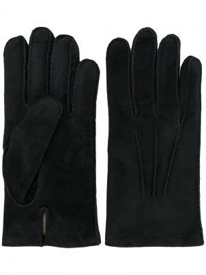 Перчатки Eleventy. Цвет: чёрный