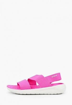 Сандалии Crocs LiteRide Stretch Sandal W. Цвет: розовый