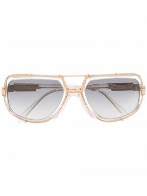 Солнцезащитные очки в оправе кошачий глаз Cazal. Цвет: золотистый