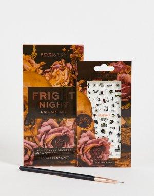 Набор для дизайна ногтей Fright Night-Разноцветный Revolution