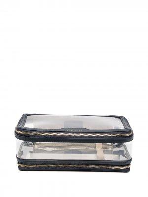 Прозрачная косметичка на молнии Anya Hindmarch. Цвет: синий