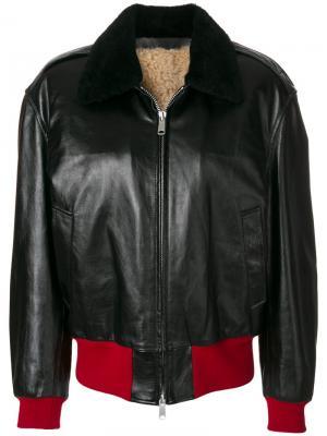 Куртка бомбер на молнии Calvin Klein 205W39nyc. Цвет: чёрный