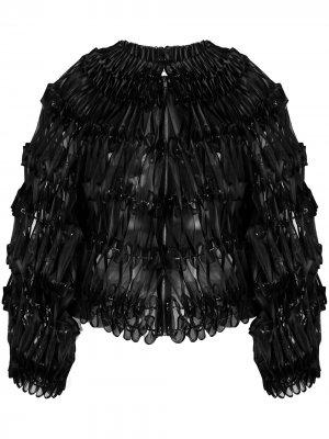 Декорированная куртка-бомбер Comme Des Garçons Noir Kei Ninomiya. Цвет: черный