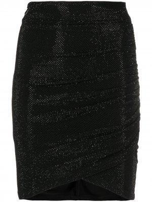 Декорированная юбка мини Philipp Plein. Цвет: черный